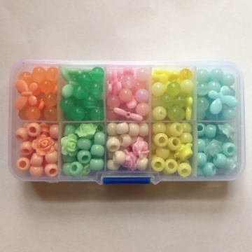 Kids Toy Colorful Loose Plastic Beads
