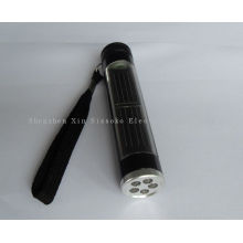 5led Aluninum Solar Powered Led Flashlight With 600mah Rechargeable Batteries