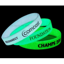 OEM Logo Glow in Dark Luminous Sport Silicone Bracelet