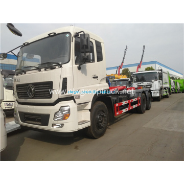 Dongfeng 6x4 hook arm lifting garbage truck