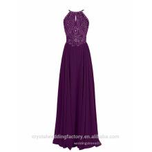 New Designer Alibaba Elegant Long Beaded O Neck backless Evening Party Prom Formal Dresses LE56