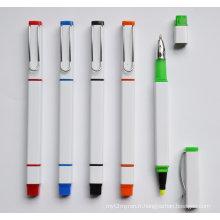Le stylo à bille 2 en 1 Promotion avec surligneur Htf069