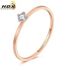 Moda jóias anéis de aço inoxidável diamante senhoras anel (hdx1151)