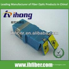 Adaptador de fibra óptica LC obturado dúplex