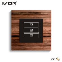 Cadre de contour de bois de 1 Gang Curtain Switch (HR1000-WD-CT (AC1))