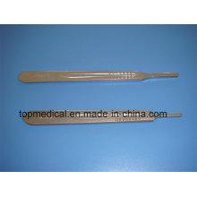 Poignée de couteau chirurgical en acier inoxydable