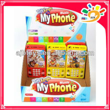 plastic toy phone for kids with music light