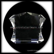 NOUVELLE Photo de cristal blanc cadre cristal