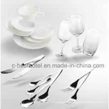 Vajilla de plástico para volar en línea de plástico Bandeja para comida Juego de comidas
