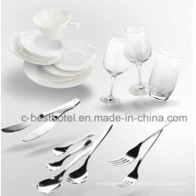 Plastic Airline Rotable Inflight Tableware Ensemble de repas à plateau de nourriture
