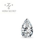 ForeverFlame G H 3ct VVS1 Pear Cut diamond CVD CZ Moissanite