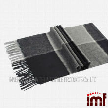 Square Neck scarf Man Check Pure Cashmere Scarf