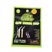 glow stick star key earring drop
