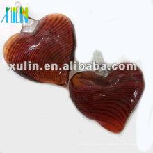 grânulos de vidro do coração do lampwork da listra da forma 30mm