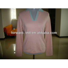 ladies' cashmere knitted pullover 12gg