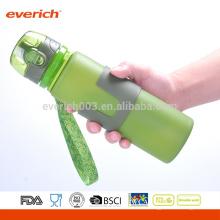 Botellas de agua plegables del silicón, botella al aire libre para viajar, acampar, ir de excursión, caminando, funcionamiento