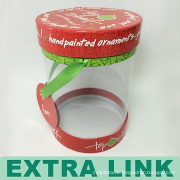 Löschen Sie Plastikentwurfs-kundenspezifischer runder Acrylschokoladen-Kasten mit Griff