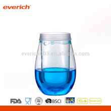 2016 Decorative Plastic Wine Glasses With Colorful Liquid