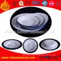 Sunboat Tableware /Dinnerware Enamel Disc Large Fruit Dish