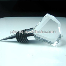 Rolha de cristal clara do vinho com logotipo personalizado para o favor do casamento
