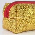 Golden sequins rectangle neoprene pencil case