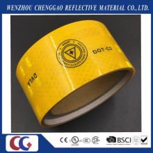 Yellow Micro Prism Diamond Dvla Print Self-Adhesive Retro Reflective Tapes
