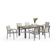 Новый дизайн Textilene Outdoor Dining Set