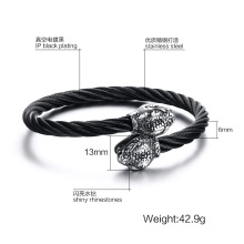 Mesh Rostfritt stål Wire Snake Head Bangle Armband