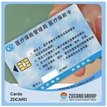 Carte d'identification intelligente de bande magnétique de PVC de norme de la qualité ISO