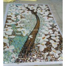 Patrón de imagen artística hecha de mosaico de vidrio de azulejos (HMP821)