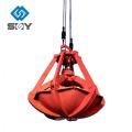 Material que maneja el equipo de grab hidráulico eléctrico de la cáscara de naranja