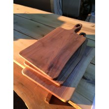 American Walnut Cutting Board with Live Edge