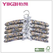 Stofftuch beschichtete Kleiderbügel mit Lovely Bogen Tuch Kleiderbügel