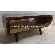 Soporte de TV de madera reciclado Estilo Art Deco