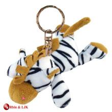 customized OEM design keychain plush toy tiger