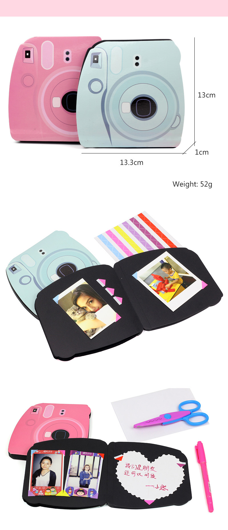 Camera Shape Diy Photo Album