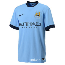 2014 England Club Manchester City Home Blue Soccer Jersey , Soccer uniform,Soccer Kits Thailand Quality