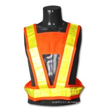 Gitter reflektierende Streifen Polyester hohe Sichtbarkeit Verkehr Sicherheitsweste (YKY2849)