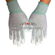 Antistatik karbon fiber PU palmiye kaplı eldiven