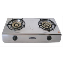 2 Burner Stainless Steel 710mm Gas Stove