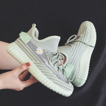 Frauen Turnschuhe Schuhe 3D Stickerei Blumen Kissen flach