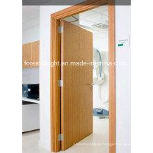 Tablero de partículas de grado arquitectónico 5 capas HPL, puerta de Hpdl para hospital y hotel