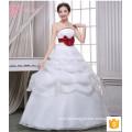 Puffy Ballkleid mehrschichtige Spitze appliques preiswerten Großverkauf-Hochzeitskleid