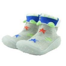toddler baby custom rubber sole socks shoes for boys and girls