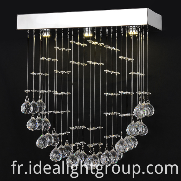 pendant light with crystal