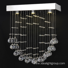 indoor clear chandeliers crystal led hanging lamp