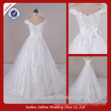 Sh0415 Off The Shoulder Wedding Dresses With Sleeves Real Sample Wedding Dress