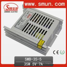 35W 5V 7A cambio de fuente de alimentación de caja de plástico ultra fino