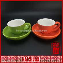 HCC cup and saucer/3oz stackable expresso cup&saucer