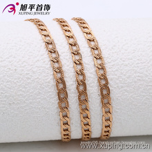 Xuping Fashion Rose Gold Color Scrub Surface Necklace (42537)